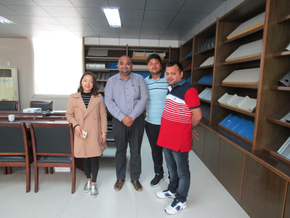 Customer visit from India for Door Frame Roll Forming Machine on April 16