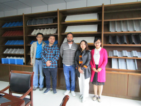 Customer visit from Argentina for automatic CZ Purlin Roll Forming Machine on April 12