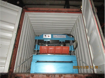 Roof crimping machine to Egypt on November 25,2021