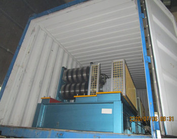 Automatic purlin roll forming machine was loaded to Argentina on July 6.2020