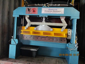 Delivery of Zhongyuan Metral Aluminium roofing sheet forming machine on August 20,2019