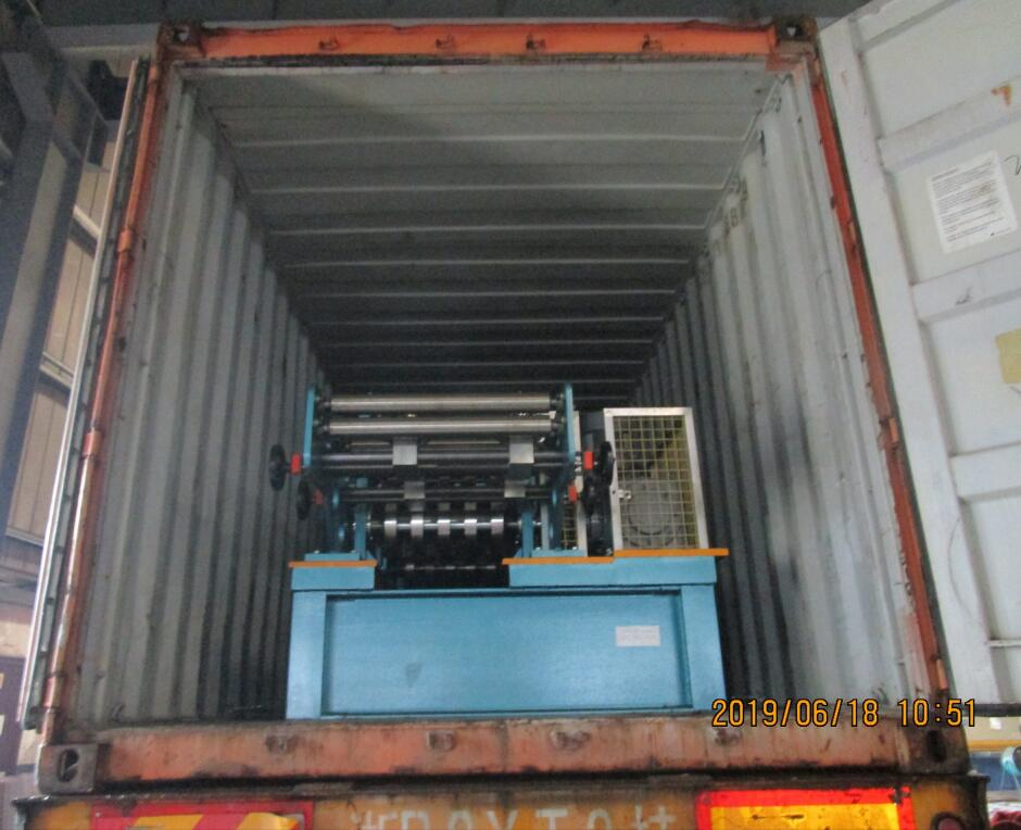 Delivery of automatic CZ purlin roll forming machine to USA on June 18,2019